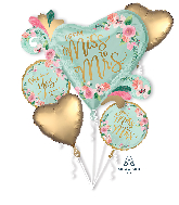 Bouquet From Miss to Mrs. Mint to Be Foil Balloon