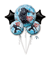 Bouquet Black Panther Foil Balloon