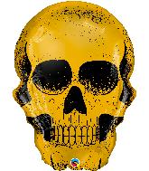 """36"""" Golden Skull Foil Balloon"""
