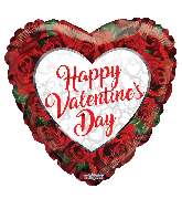 "4"" Valentine's Roses Foil Balloon"