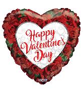 "36"" Valentine's Roses Foil Balloon"