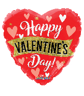 """18"""" Valentine's Banner & Heart Holographic Foil Balloon"""
