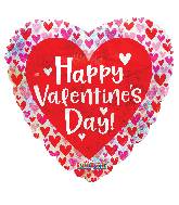 """9"""" Valentine's Day Hearts Holographic Foil Balloon"""