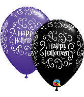 "11"" Latex Balloon Halloween Filigree 50 Count"