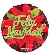 """18"""" Feliz Navidad Nochebuena Holographic Foil Balloon"""