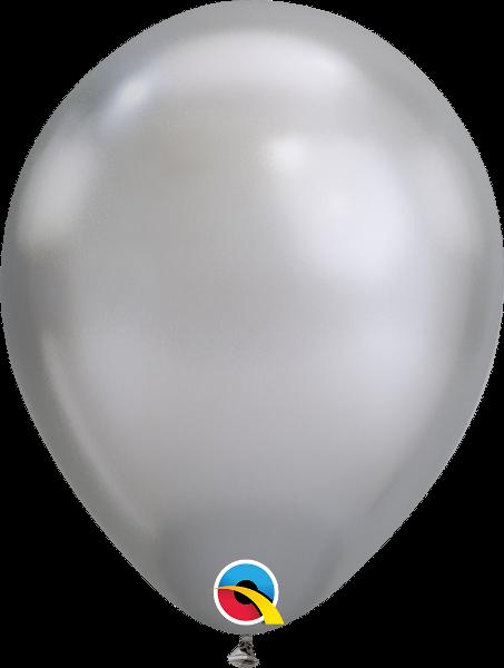 "11"" Chrome Silver 100 Count Qualatex Latex Balloons"