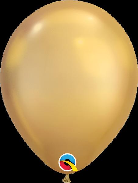 "11"" Chrome Gold 100 Count Qualatex Latex Balloons"