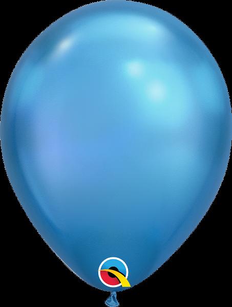 "11"" Chrome Blue 100 Count Qualatex Latex Balloons"