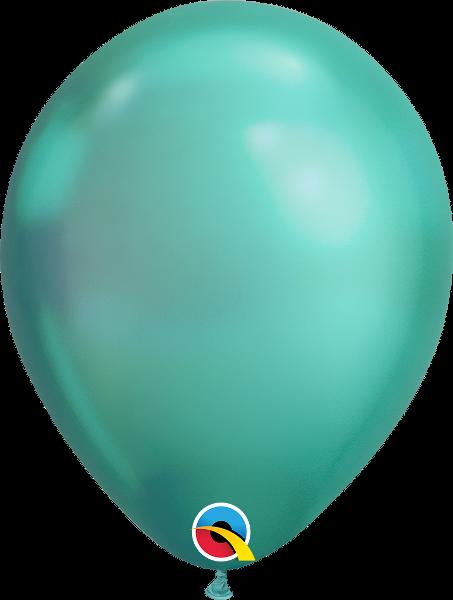 "11"" Chrome Green 100 Count Qualatex Latex Balloons"