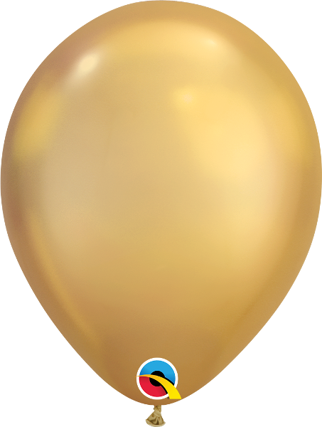 "11"" Chrome Gold 25 Count Qualatex Latex Balloons"