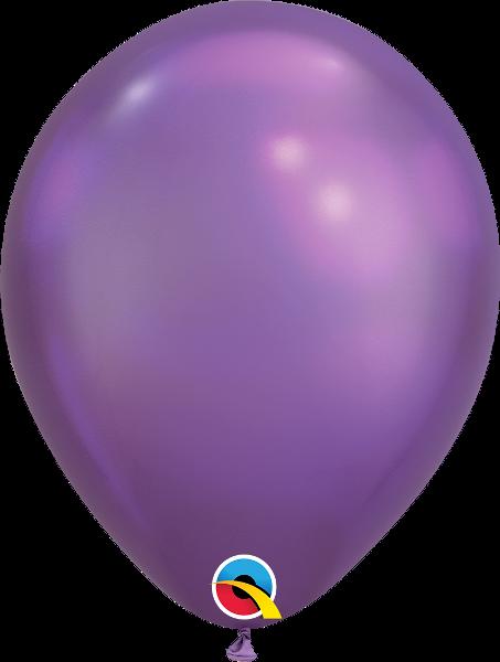 "11"" Chrome Purple 25 Count Qualatex Latex Balloons"