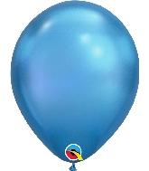 "11"" Chrome Blue 25 Count Qualatex Latex Balloons"