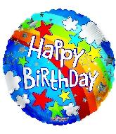 """18"""" Birthday Rainbow Foil Balloon"""