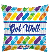 """18"""" Get Well Bandages Foil Balloon"""