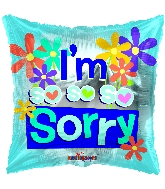 "18"" I'm So So Sorry Foil Balloon"