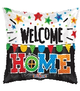 "18"" Welcome Home Pennants Foil Balloon"