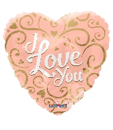 """18"""" Love You Rose Gold Foil Balloon"""