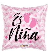 """18"""" Es Niña Baby Prints Foil Balloon"""