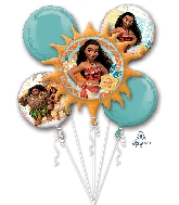 Moana Bouquet Foil Balloon