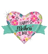 "32"" Glittering Floral Mother's Day Banner Foil Balloon"