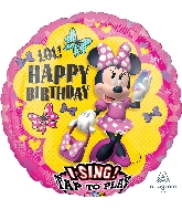"28"" Minnie Happy Helpers Sing-A-Tune XL Foil Balloon"