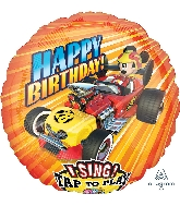 "28"" Mickey Roadster Racers Sing-A-Tune XL Foil Balloon"