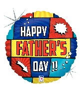 """18"""" Holographic Balloon Super Father's Day Foil Balloon"""