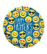 """18"""" MAX Float Balloon Emoji Father's Day Foil Balloon"""