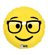 "18"" MAX Float Balloon Emoji Nerd Foil Balloon"