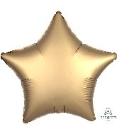 "18"" Satin Luxe Gold Sateen Star Foil Balloon"