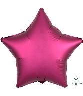"18"" Satin Luxe Pomegranate Star Foil Balloon"