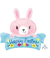 "32"" Pink Easter Bunny SuperShape™ XL® Foil Balloon"