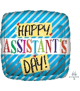 """18"""" Assistant's Day Blue Stripes Foil Balloon"""
