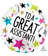 """18"""" Great Assistant Stars Foil Balloon"""
