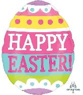 "16"" Springy Easter Egg Junior Shape XL Foil Balloon"