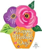 """19"""" Happy Mother's Day Flower Pot Foil Balloon"""