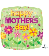 """18"""" Happy Mother's Day Garden Patch Foil Balloon"""