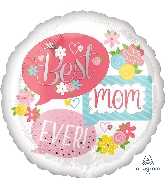 "28"" Best Mom Ever Bubbles Jumbo Foil Balloon"