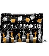 """24"""" Congratulations Cap Toss Junior Shape Foil Balloon"""