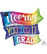 "32"" Hooray You Did It SuperShape™ XL® Foil Balloon"