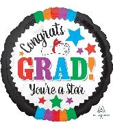 "18"" Grad You're a Star Foil Balloon"