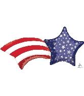 "27"" Patriotic Shooting Star SuperShape™ XL® Foil Balloon"