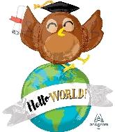 """42"""" Hello World Owl Multi-Balloon Foil Balloon"""