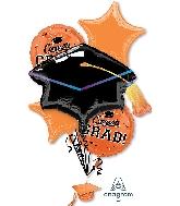 School Colors Pride - Orange Bouquet Foil Balloon
