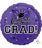 "18"" School Colors Pride - Purple Foil Balloon"