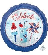 "18"" Celebrate USA Foil Balloon"