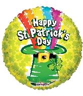 """18"""" St. Patrick's Day Rainbow GelliBean Foil Balloon"""