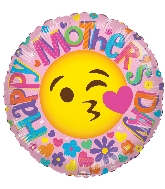 """18"""" Happy Mother's Day Smiley Face Foil Balloon"""