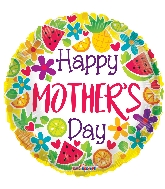 """18"""" Happy Mother's Day Citric GelliBean Foil Balloon"""