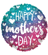 """18"""" Mother's Day Gradient Holographic Foil Balloon"""